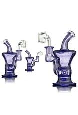 Blais Glass Jeff Blais Purple Lollipop Mini Dab Rig w/ Quartz Nail - Waldo