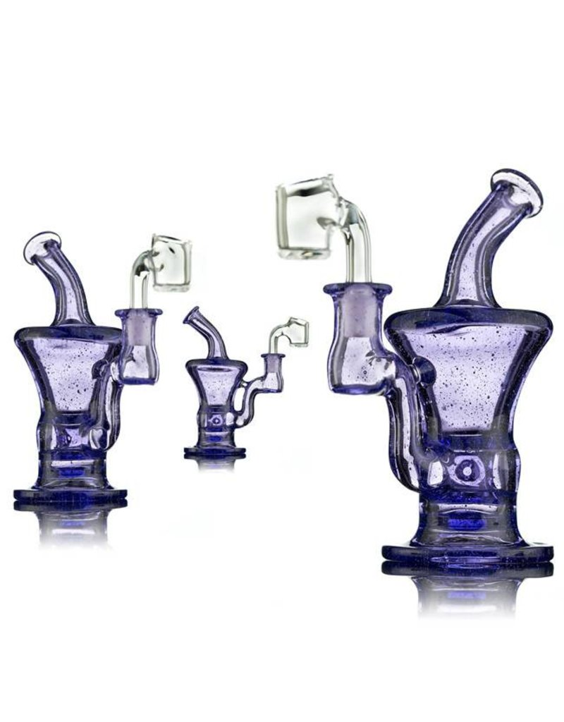 Blais Glass Jeff Blais Purple Lollipop Mini Dab Rig w/ Quartz Nail - Waldo