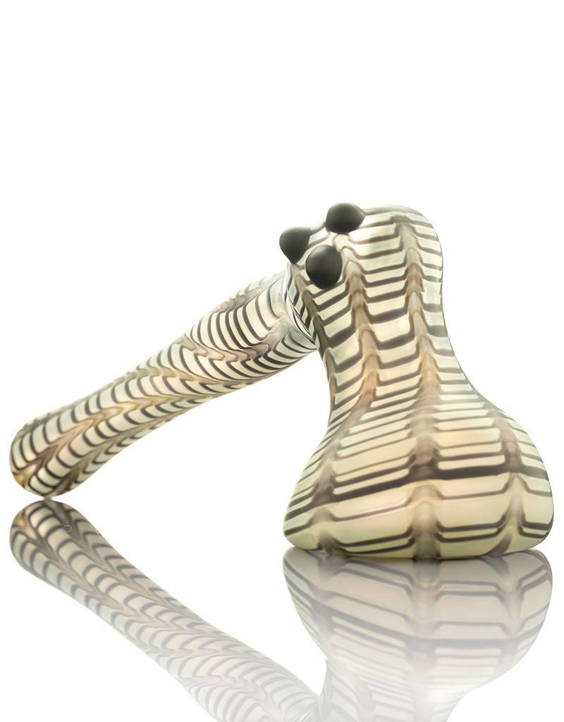 Witch DR Witch DR Frosted Black Wrap & Rake Hammer Bubbler Pipe by Treso Queso