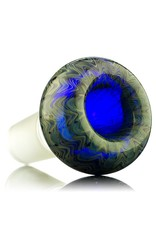 Kevin Engelmann 18mm Bong Bowl Slide Bubble Gold/Silver Fume over COBALT Glass by Witch DR