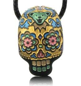 Joei Masataka SOLD Joei Masataka Gold Sugar Skull Glass Pendant