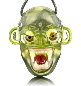 COYLE SOLD Coyle Green Open Mouth Monkey Glass Pendant