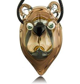COYLE SOLD Coyle Bear Head Glass Pendant