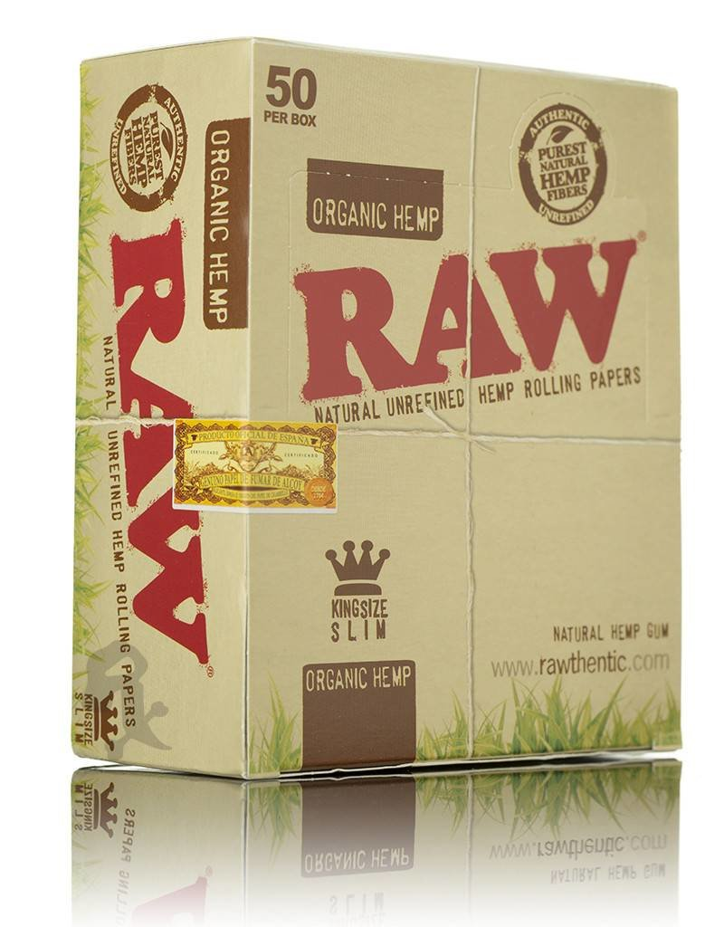 Raw RAW Organic Hemp King Size Slim 50/Box