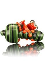 UKIAH Ukiah Black & Green Bubble Cap w/ Red Frog Attached