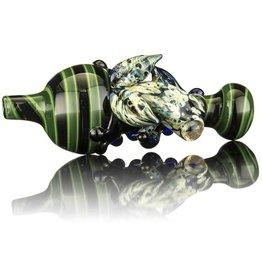 UKIAH SOLD Ukiah Black & Green Bubble Cap w/ Blue Frog
