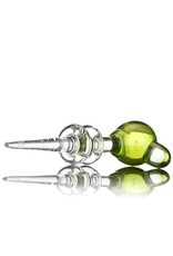 Witch DR Witch DR Transparent Green Accented Ball Head Dabber Carb Cap Combo by Treso Queso