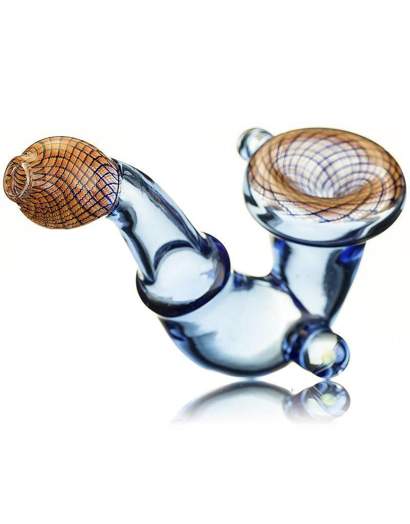 SAMSON Samson Fire Reticello Icy Glass Sherlock Hand Pipe