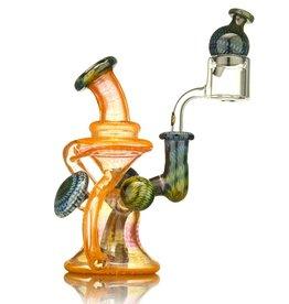 Steve Sizelove SOLD Steve Sizelove Orange Bubbletrap Recycler