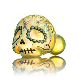 Dina K SOLD Dina K Sugar Skull Spoon Pipe 5 Glass Enthusiast