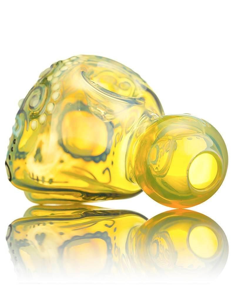Dina K Dina K Sugar Skull Spoon Pipe 5 Glass Enthusiast