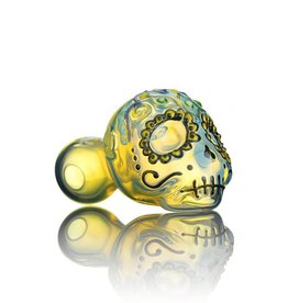Dina K SOLD Dina K Glass Sugar Skull Spoon 4 - The Glass Enthusiast