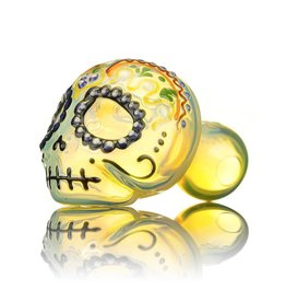 Dina K SOLD Dina K Glass Sugar Skull Spoon Pipe 8 Glass Enthusiast