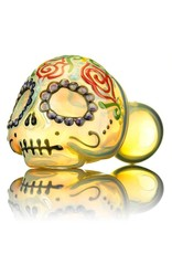 Dina K SOLD Dina K Sugar Skull Spoon Pipe 7 Glass Enthusiast