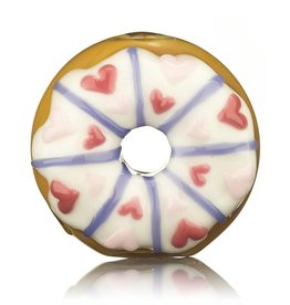 KGB x Sarah Marblesbee SOLD Valentine's 2018 KGB x Sarah Marblesbee White Frosting & Hearts Donut Chillum