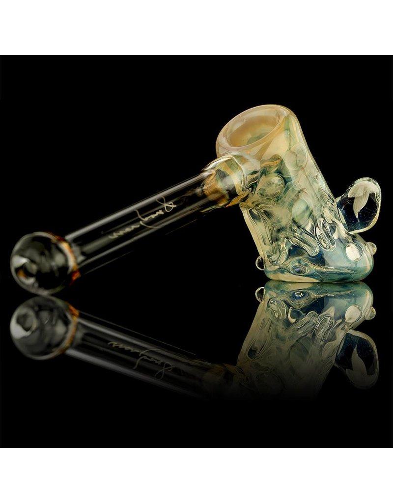 Bob Snodgrass Bob Snodgrass Silver Fumed Mushroom Marble & Dancing People Hammer Snodgrass Family Glass