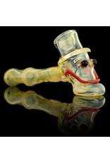 Bob Snodgrass Bob Snodgrass Lined Stem MR Happy Hammer Pipe Snodgrass Family Glass