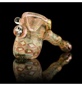 Hugh Glass SOLD Hugh Glass Fume Hammer with Skull Implosion Snodgrass Family Glass