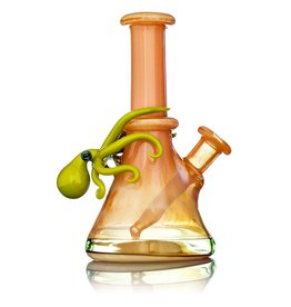 Liz Wright SOLD Liz Wright Irridencent Coral Mini Tube with Chartreuse Octopus