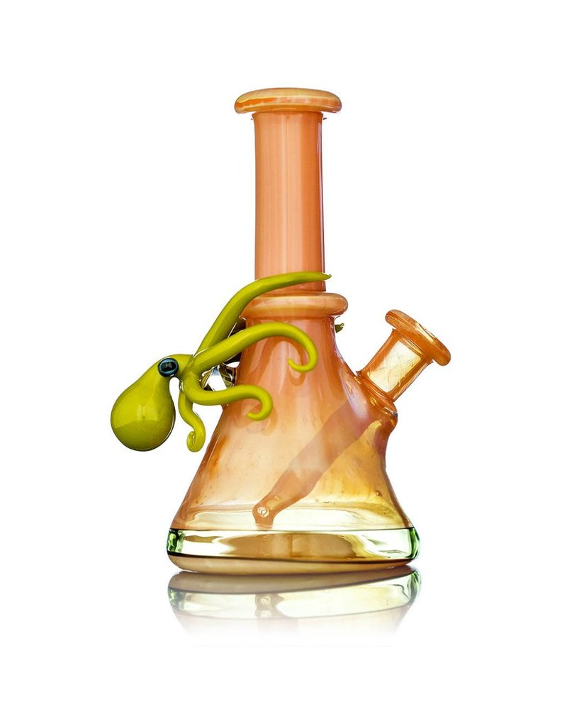 Liz Wright Liz Wright Irridencent Coral Mini Tube with Chartreuse Octopus