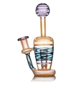 Jacob Vincent Jacob Vincent Peach & Purple Potion Shapes in Shapes Ripple Disc Mini Tube