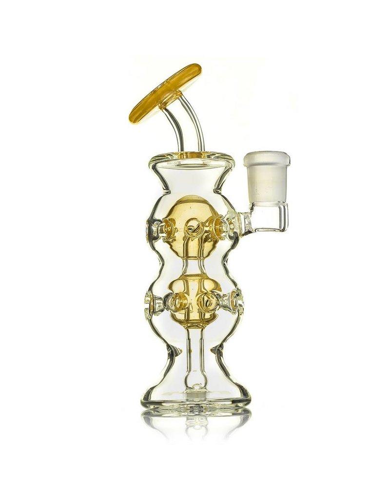 Tubesock Glass Tubesock Gold Fume Double Begg