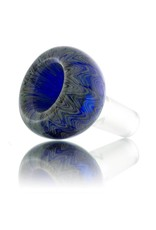 Witch DR 14mm (M) Bong Bowl Bubble Slide Gold/Silver Fume Wrap&Rake over COBALT Glass (B) by Witch DR