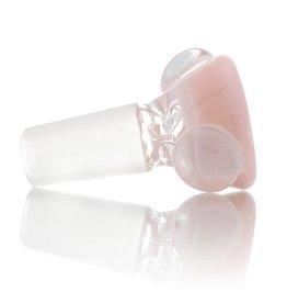 Clint Carpenter SOLD 14mm Bong Bowl Bubble Slide Worked Pink Glass (7) by Clint Carpenter