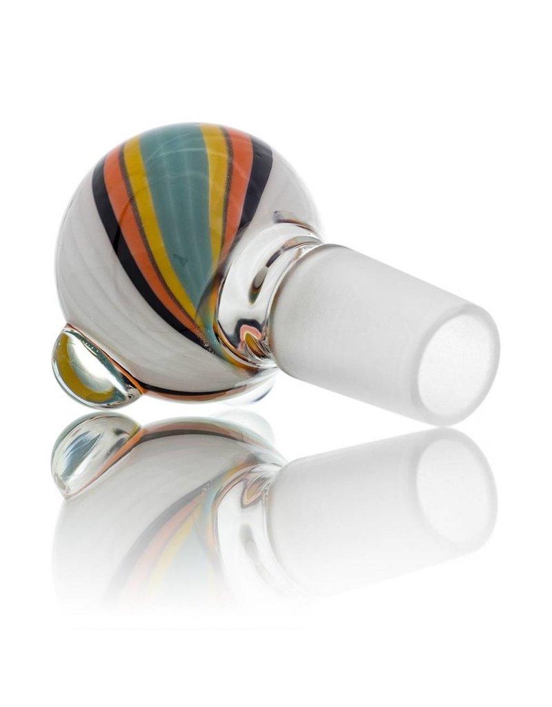 18mm (M) Bong Bowl Glass Bubble Slide (2) by Dave Strobel