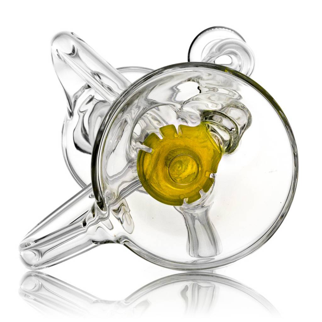 10mm Double Uptake Recycler by Aw Glass | Thomas Orange