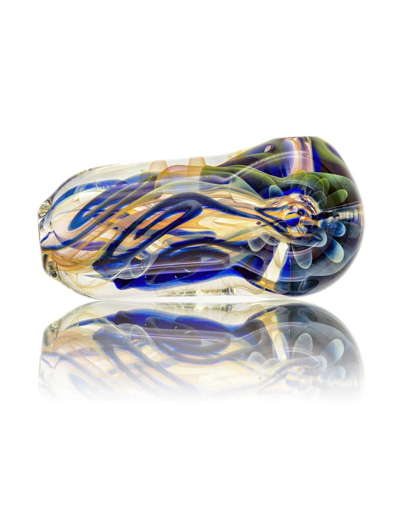 Boro Mojo Cobalt Pavement Pounder Inside Out Glass Spoon (A)