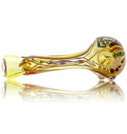 David James SOLD David James Small Fume Inside Out  Dichro Glass Spoon (A)