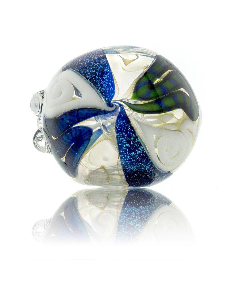 David James David James Micro Fume Inside Out  Dichro Glass Spoon (A)