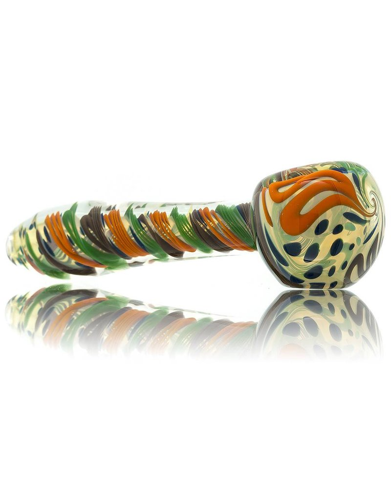 Jay Luetjen Large Inside Out Glass Spoon Hand Pipe (A)