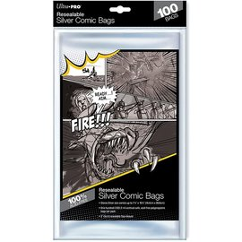 Ultra-PRO Ultra Pro Comic Bags Resealable Silver Size 100ct