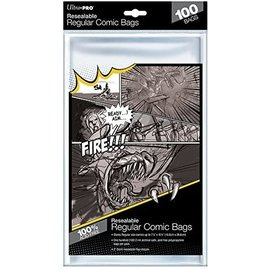Ultra-PRO Ultra Pro Comic Bags Resealable Regular Size 100ct