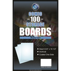 Southern Hobby Comic Boards Modern Size 100ct