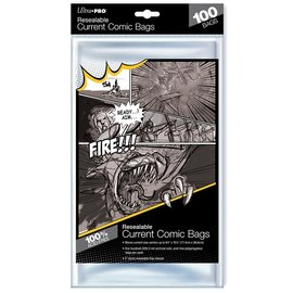 Ultra-PRO Ultra Pro Comic Bags Resealable Current Size 100ct