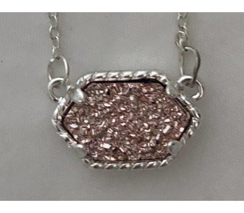kendra scott inspired druzy necklace