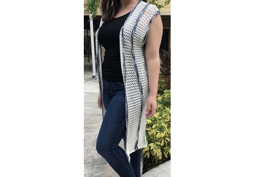 long sleeveless knit sweater