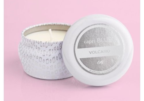 Capri Blue - Volcano, Printed Mini Tin - white