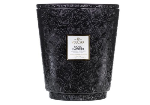 voluspa Voluspa - Moso Bamboo 123 oz Hearth Candle with Lid/Tray - 5 wick