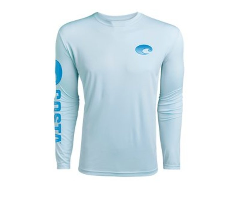 Costa -arctic blue  long sleeved dry-fit shirt