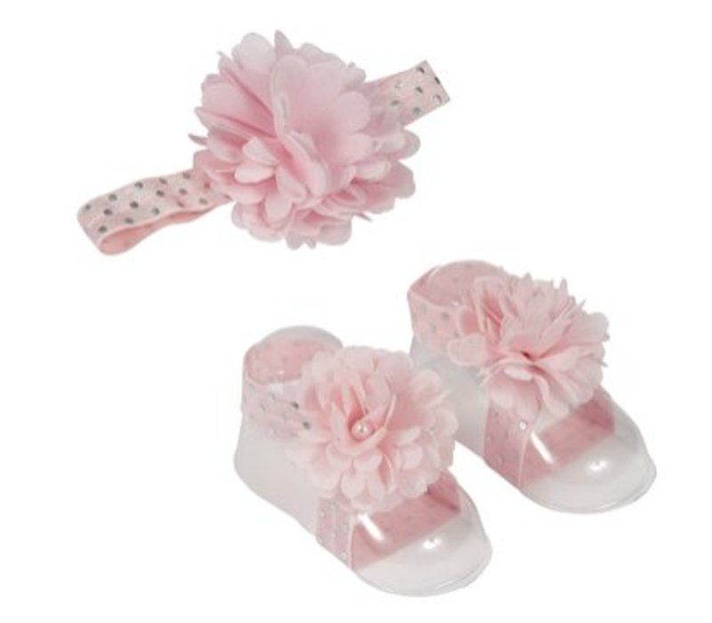 London Bridge Pink Headband & Sandal Set