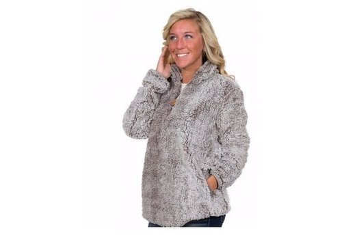 SIMPLY SOUTHERN Simply Southern Sherpa Pull-Over in Steel