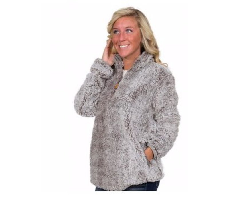 Simply Southern Sherpa Pull-Over in Steel