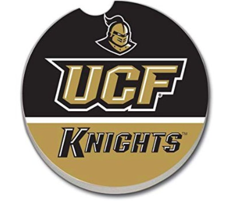 UCF on black/gold Car Coaster