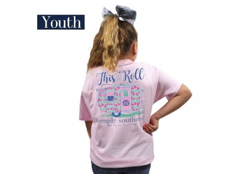 SIMPLY SOUTHERN Preppy Roll Lulu T-Shirt (Youth)