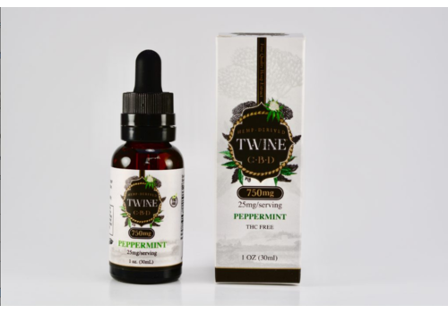 twine Peppermint CBD Oil- 750mg