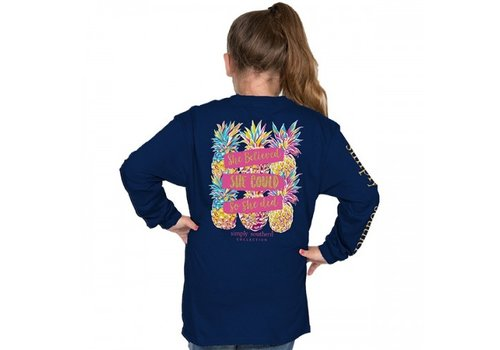 SIMPLY SOUTHERN She Believed She Could- Youth Long Sleeve